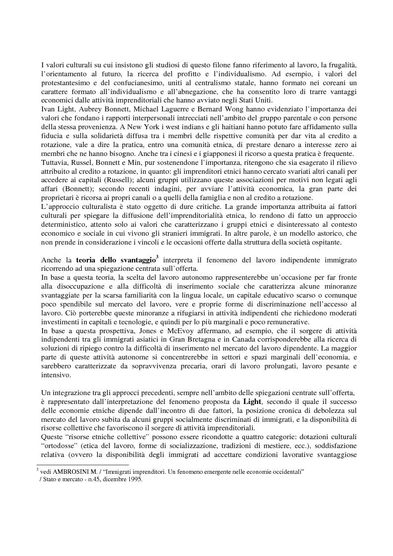 Anteprima della tesi: Immigrati e lavoro autonomo nella realtà milanese, Pagina 2