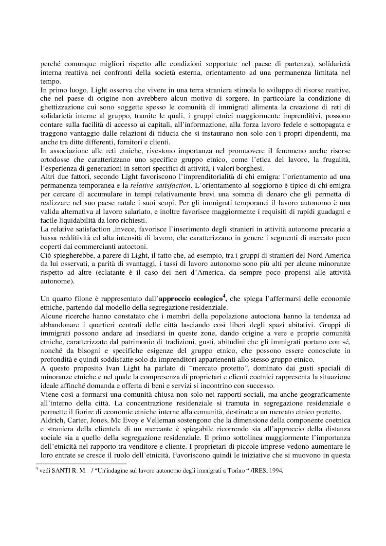Anteprima della tesi: Immigrati e lavoro autonomo nella realtà milanese, Pagina 3