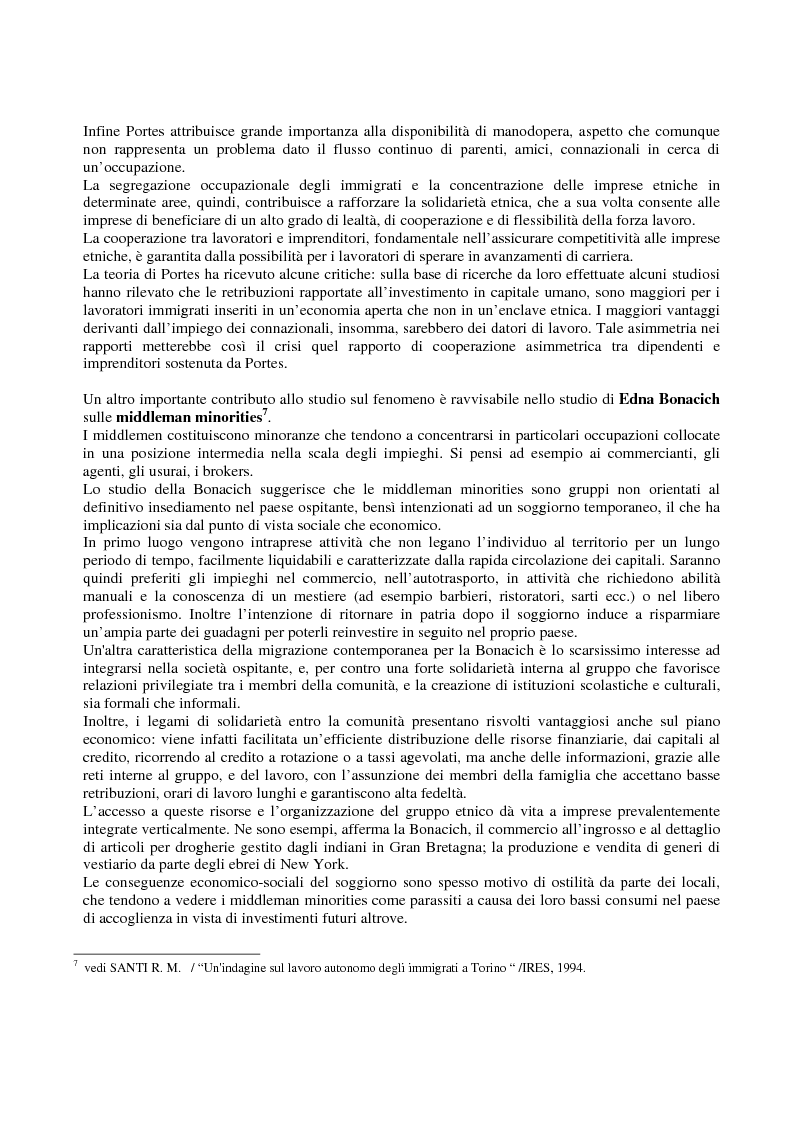 Anteprima della tesi: Immigrati e lavoro autonomo nella realtà milanese, Pagina 5