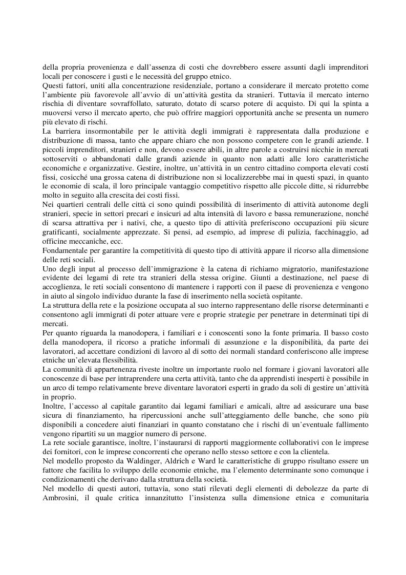 Anteprima della tesi: Immigrati e lavoro autonomo nella realtà milanese, Pagina 7