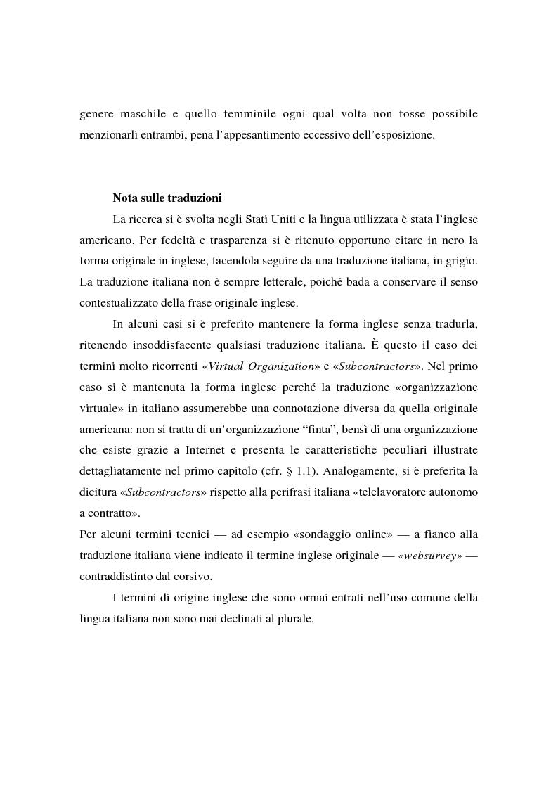 Anteprima della tesi: Collaborare senza mai vedersi: il telelavoro in una virtual organization transnazionale, Pagina 3