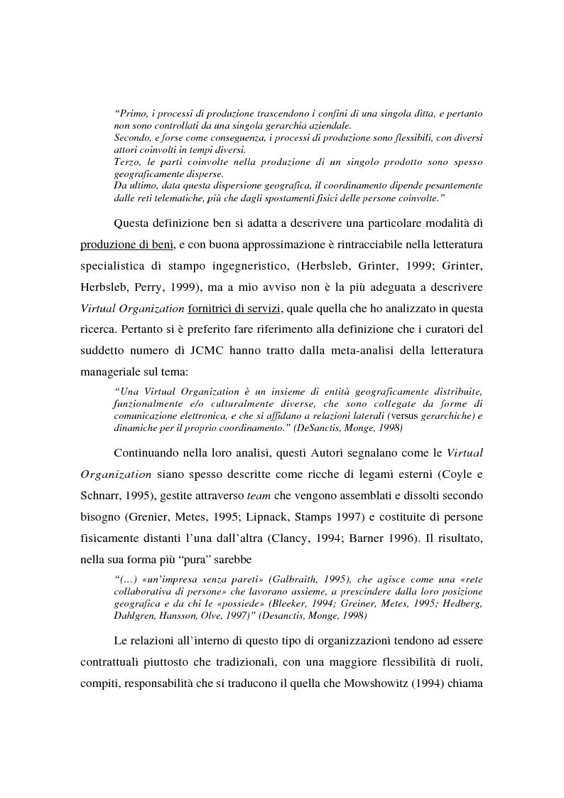 Anteprima della tesi: Collaborare senza mai vedersi: il telelavoro in una virtual organization transnazionale, Pagina 5