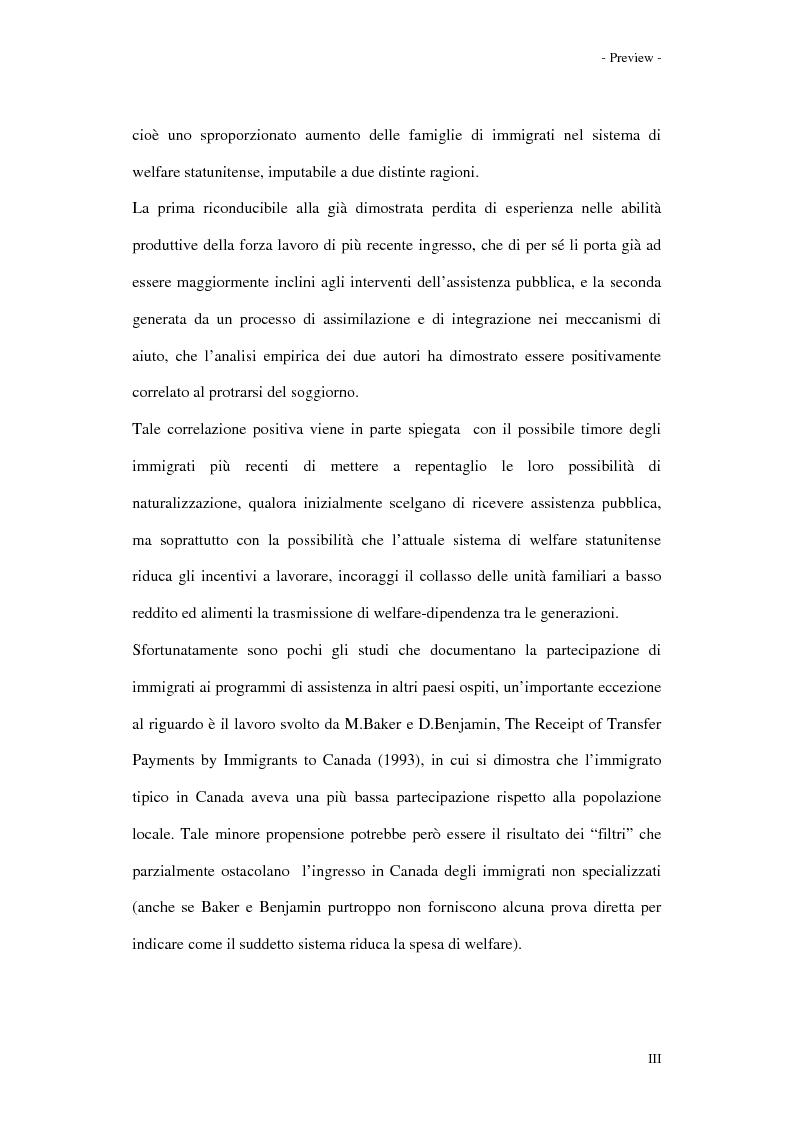 Anteprima della tesi: Gli effetti dell'immigrazione sulle entrate e spese pubbliche con particolare riferimento alla regione Valle d'Aosta, Pagina 3