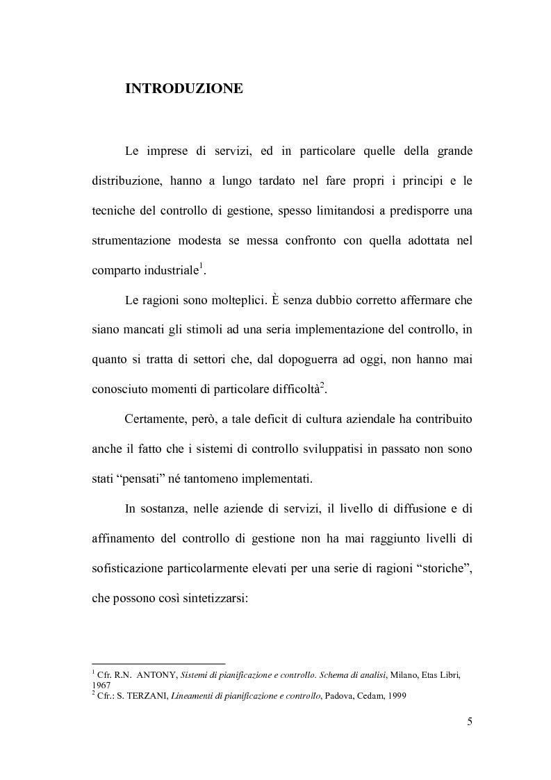 Anteprima della tesi: Il controllo direzionale nelle aziende della grande distribuzione. Il caso Conad, Pagina 1