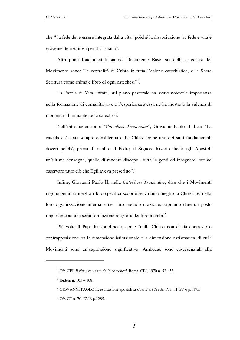 Anteprima della tesi: La catechesi degli adulti nel movimento dei Focolari, Pagina 2