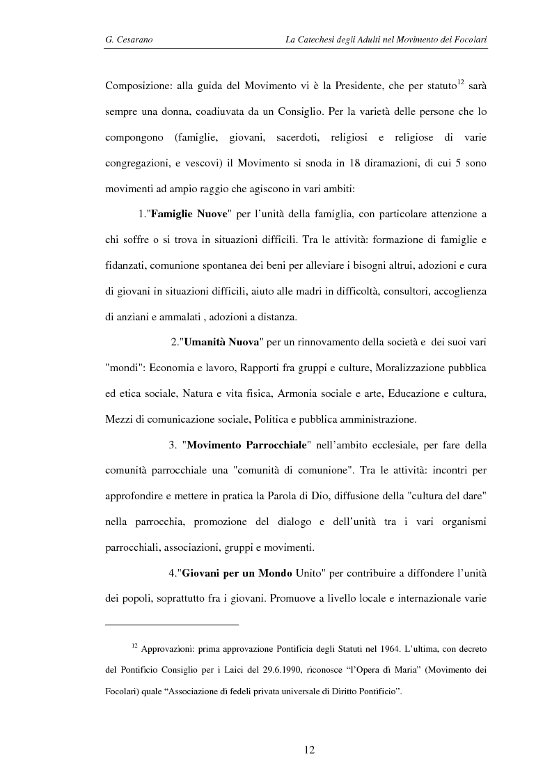 Anteprima della tesi: La catechesi degli adulti nel movimento dei Focolari, Pagina 9