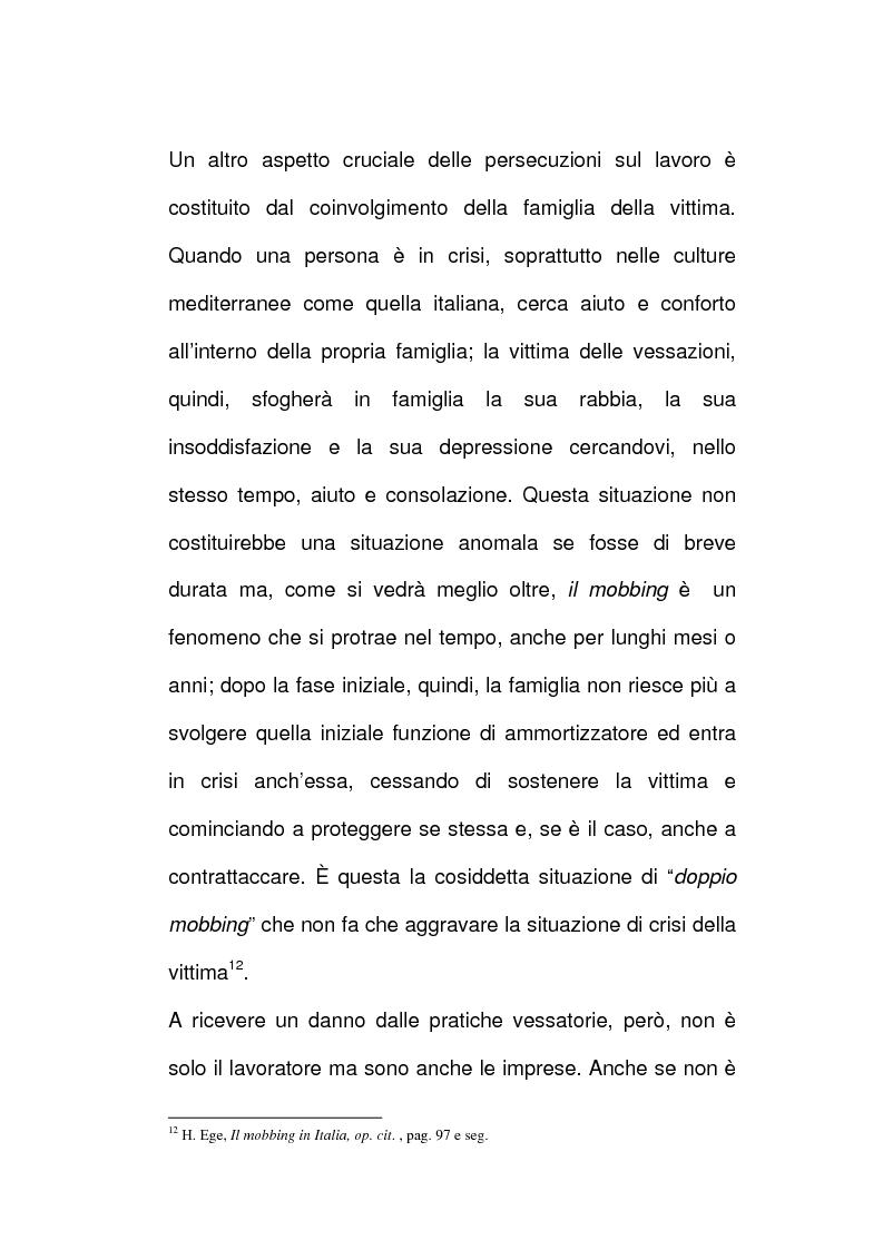 Anteprima della tesi: Vessazioni sul lavoro - La tutela del prestatore d'opere vittima di mobbing, Pagina 7