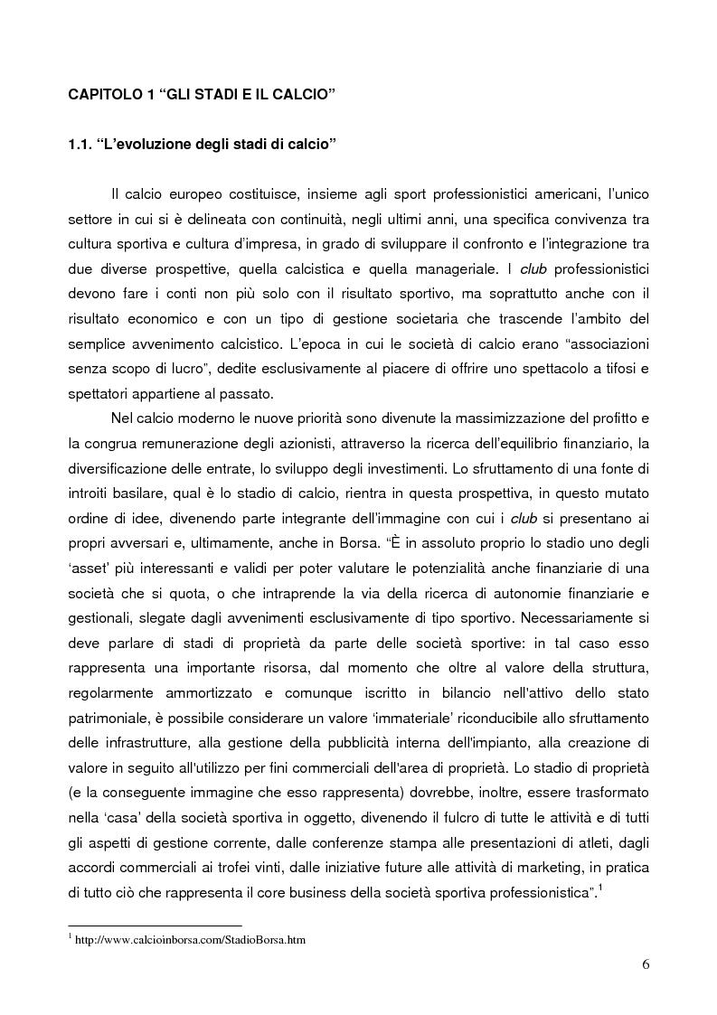 Anteprima della tesi: Il marketing degli stadi di calcio in Europa: il caso dell'Amsterdam Arena, Pagina 3