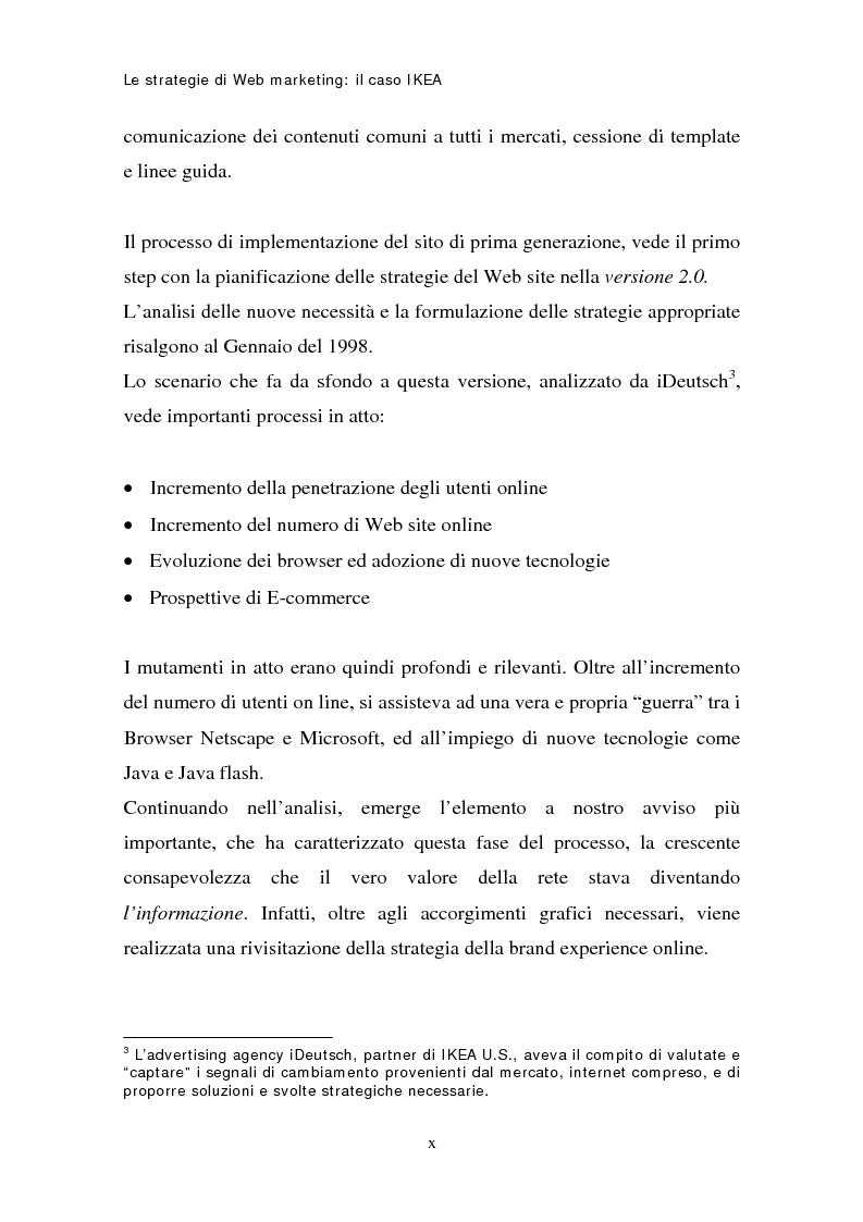 Anteprima della tesi: Le strategie di web marketing: il caso Ikea, Pagina 10