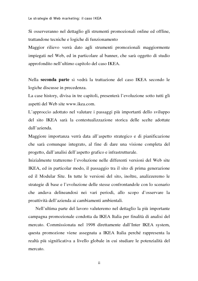 Anteprima della tesi: Le strategie di web marketing: il caso Ikea, Pagina 2