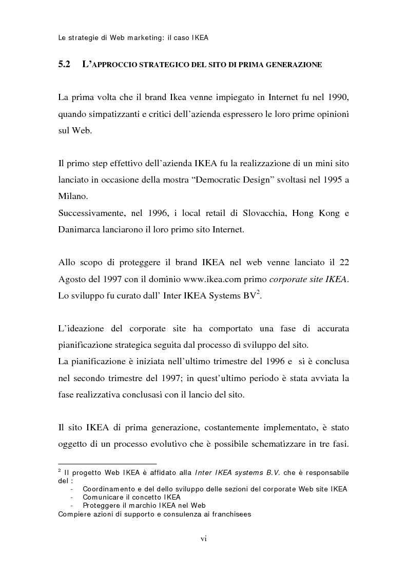 Anteprima della tesi: Le strategie di web marketing: il caso Ikea, Pagina 6