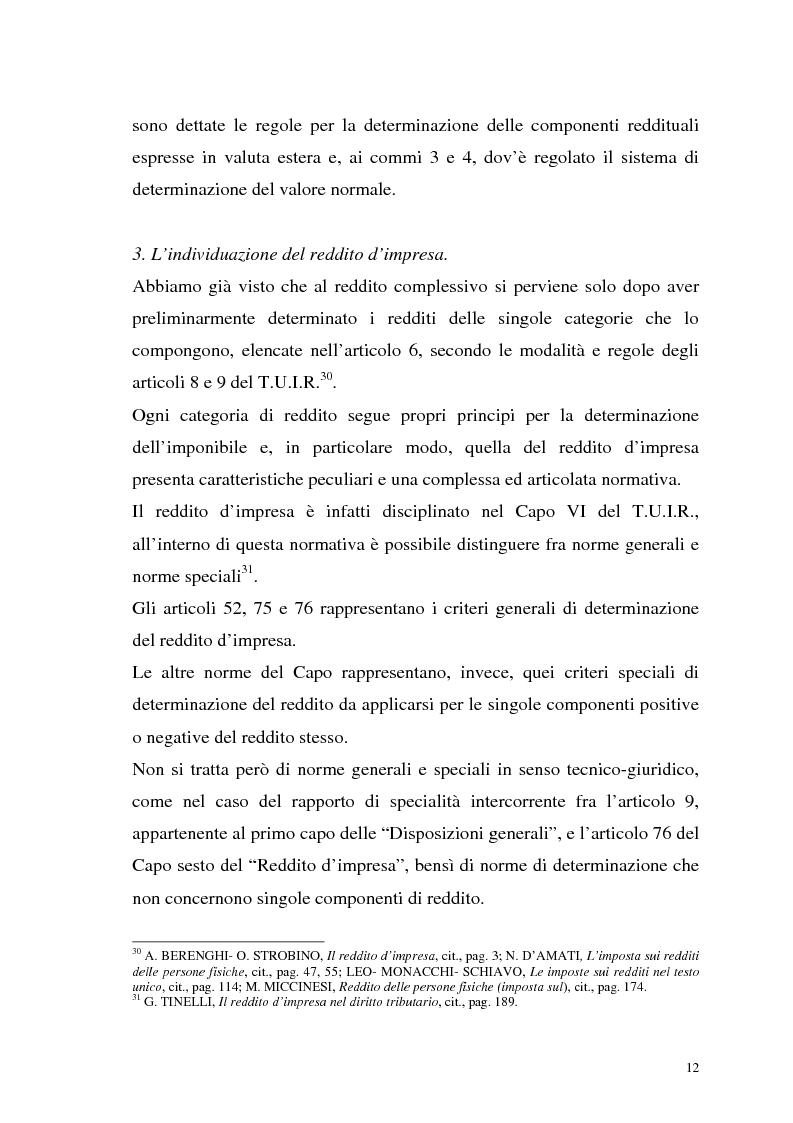Anteprima della tesi: I criteri di valutazione nel reddito d'impresa, Pagina 10