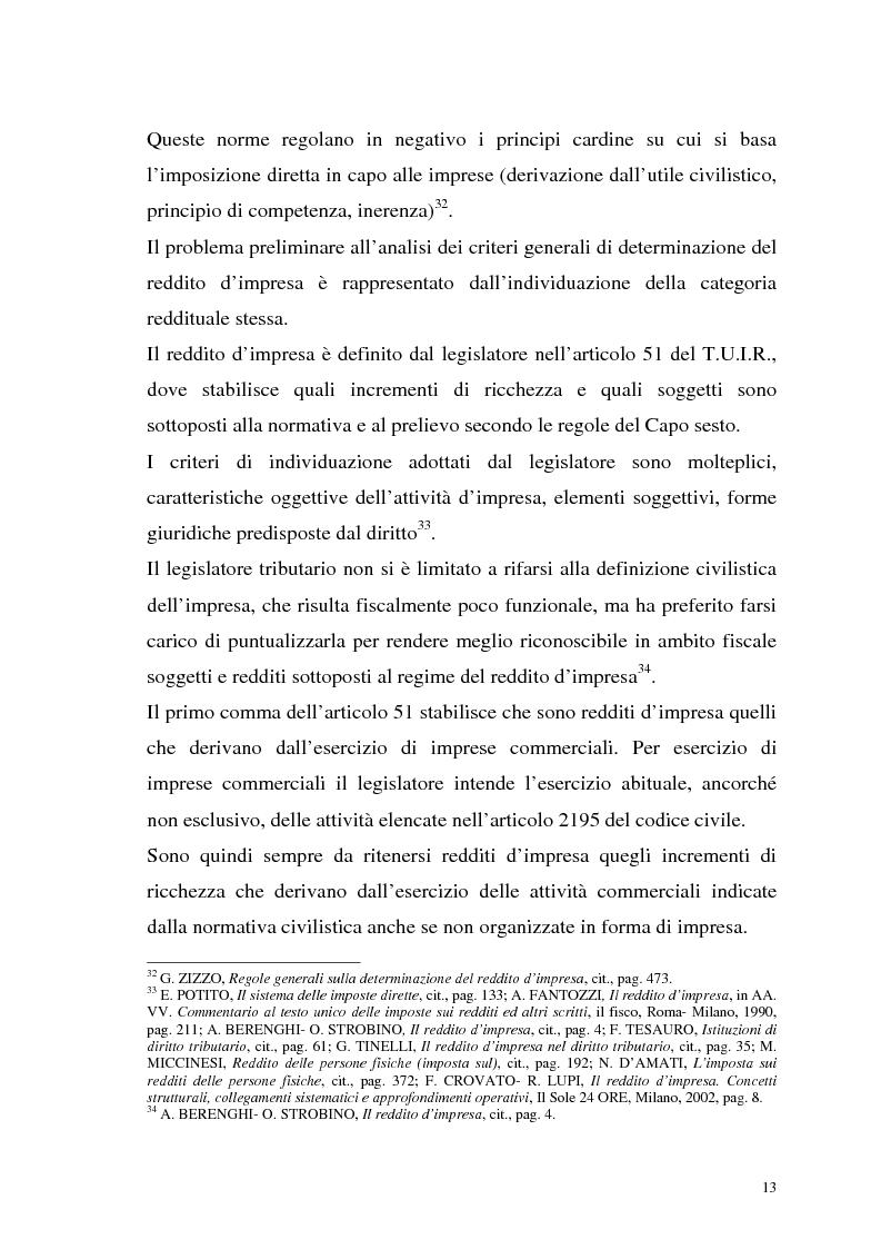 Anteprima della tesi: I criteri di valutazione nel reddito d'impresa, Pagina 11