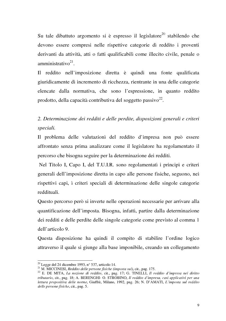 Anteprima della tesi: I criteri di valutazione nel reddito d'impresa, Pagina 7
