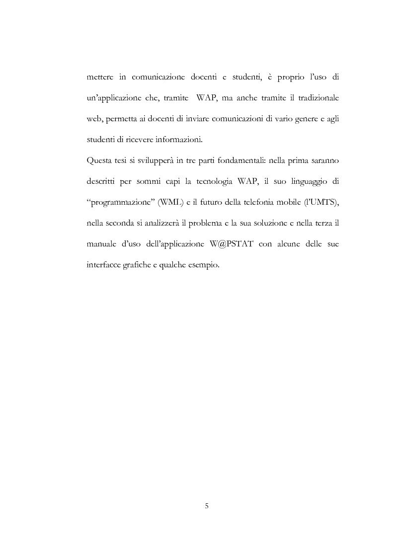 Anteprima della tesi: W@pstat: gestire le informazioni di un dipartimento universitario tramite wap, Pagina 2