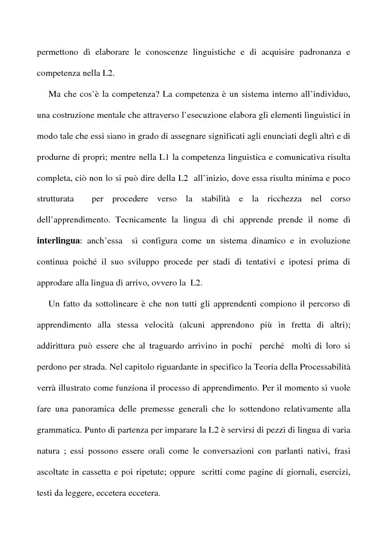 Anteprima della tesi: L'apprendimento dell'inglese L2 a lezione privata, Pagina 10