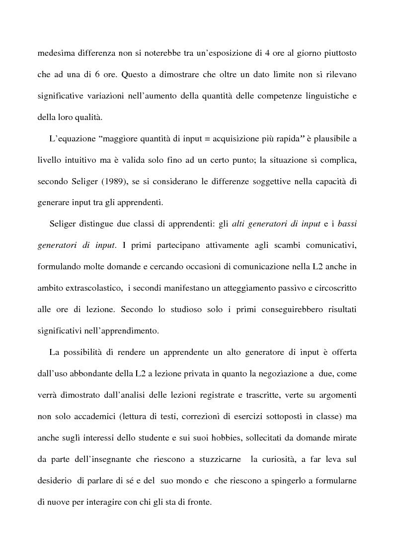 Anteprima della tesi: L'apprendimento dell'inglese L2 a lezione privata, Pagina 5