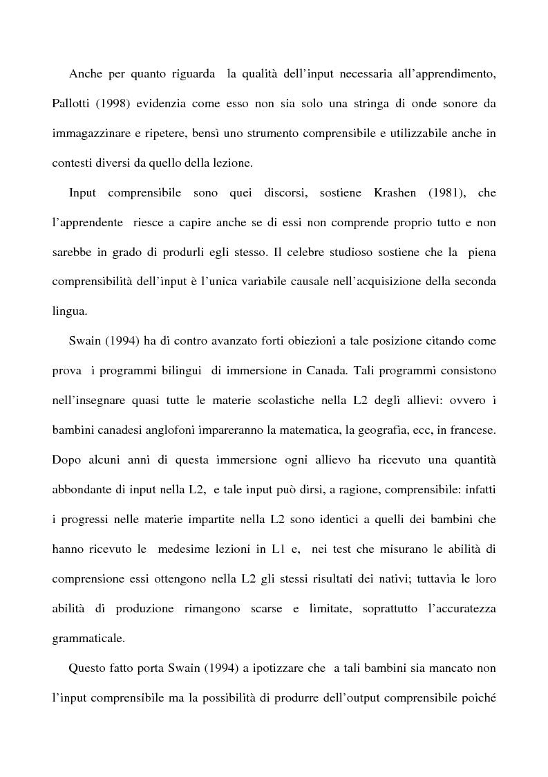 Anteprima della tesi: L'apprendimento dell'inglese L2 a lezione privata, Pagina 6