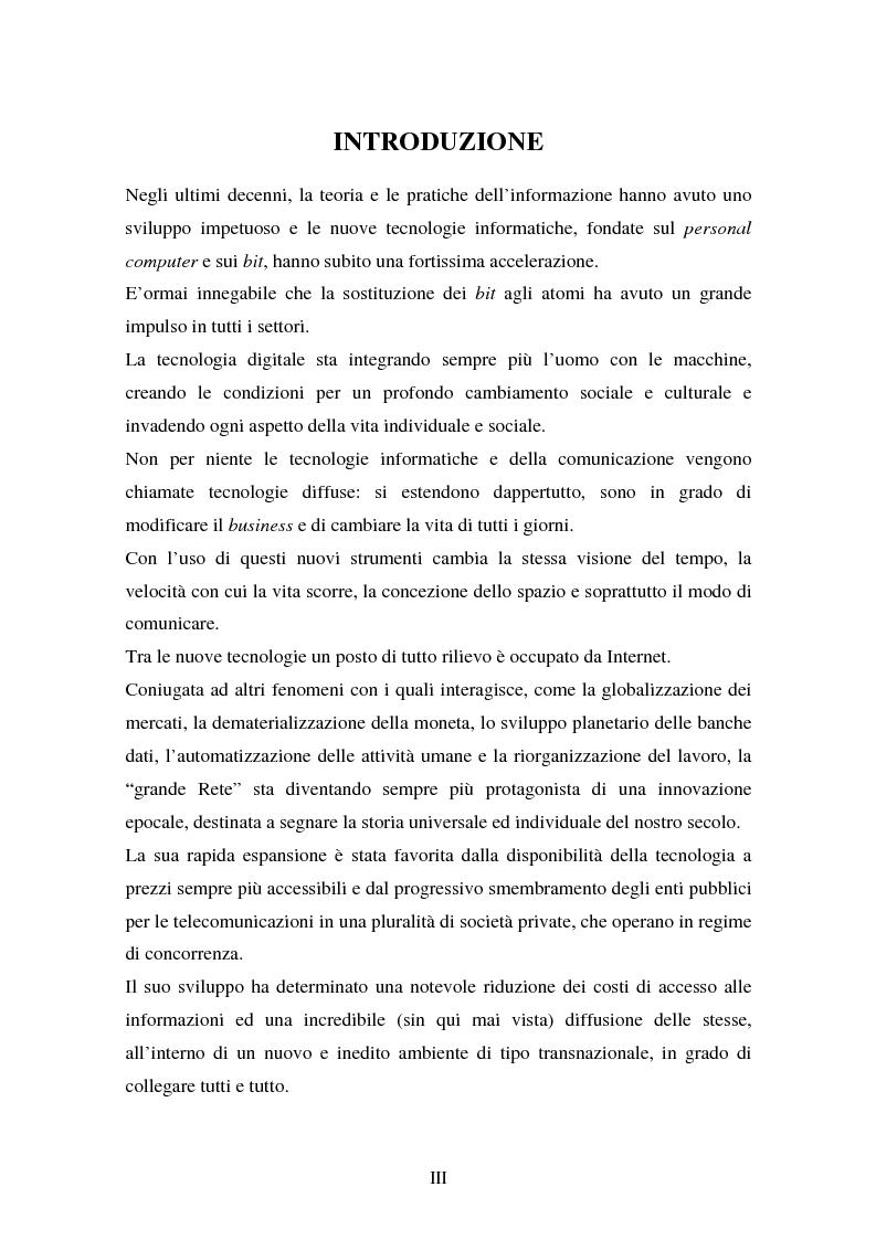 Anteprima della tesi: La disciplina comunitaria in materia di commercio elettronico, Pagina 1
