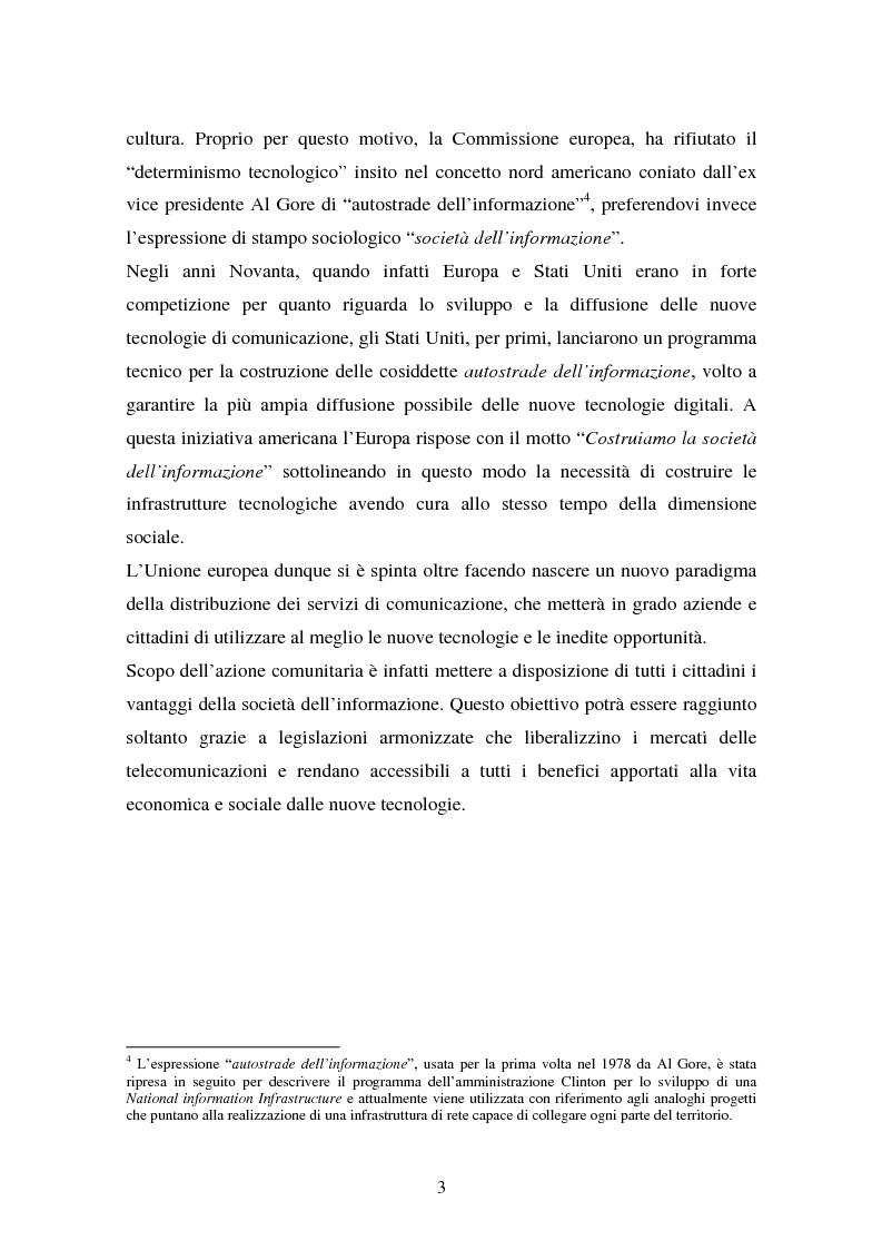 Anteprima della tesi: La disciplina comunitaria in materia di commercio elettronico, Pagina 10