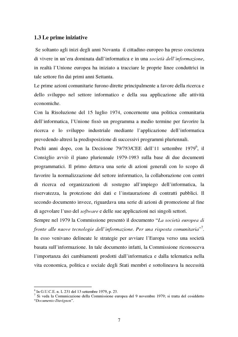 Anteprima della tesi: La disciplina comunitaria in materia di commercio elettronico, Pagina 14