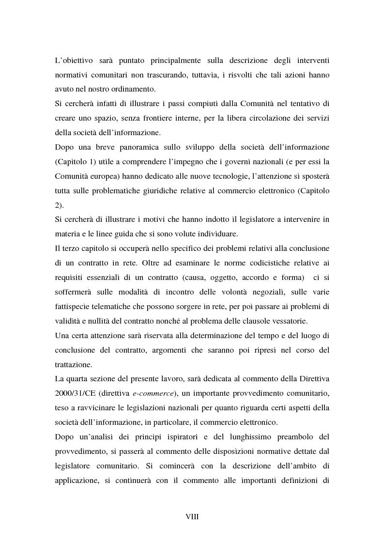 Anteprima della tesi: La disciplina comunitaria in materia di commercio elettronico, Pagina 6