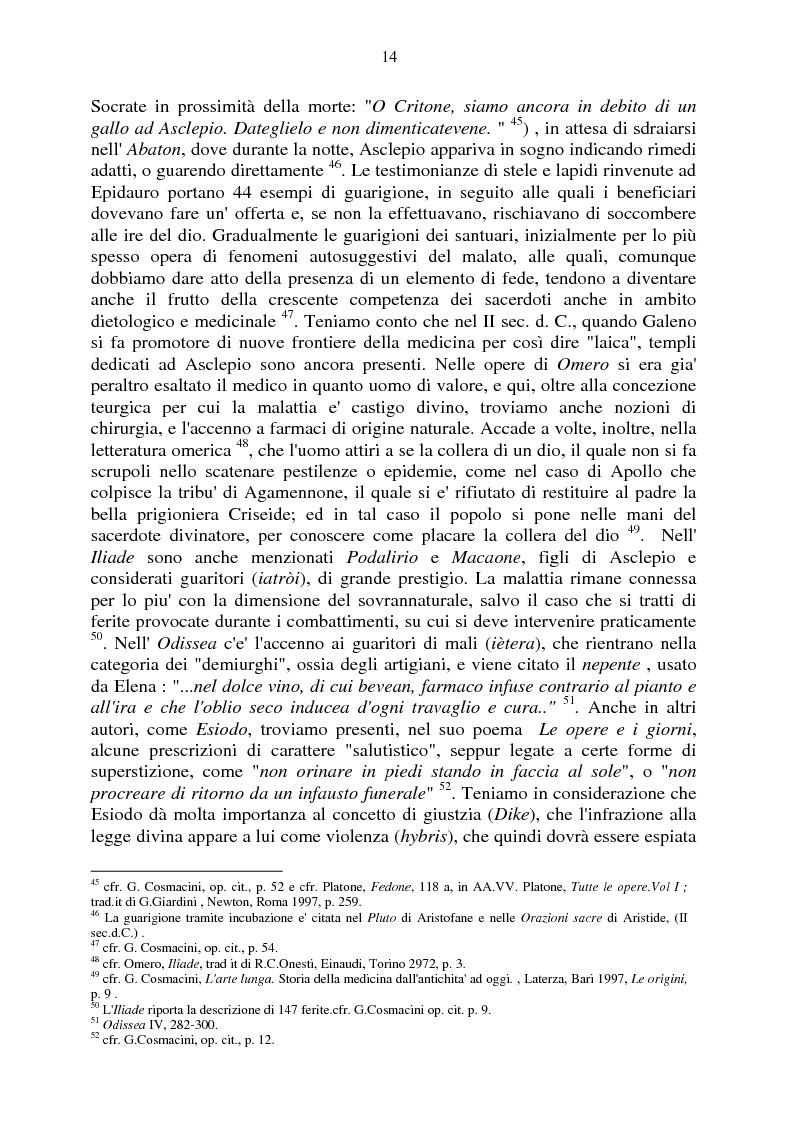 Anteprima della tesi: Aspetti e momenti del pensiero medico antico e medievale con particolare riguardo ai Consilia ed ai Regimina, Pagina 10