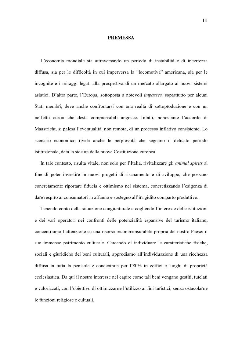 Anteprima della tesi: Il turismo culturale vicentino: l'appeal esercitato dai beni ecclesiastici, Pagina 1