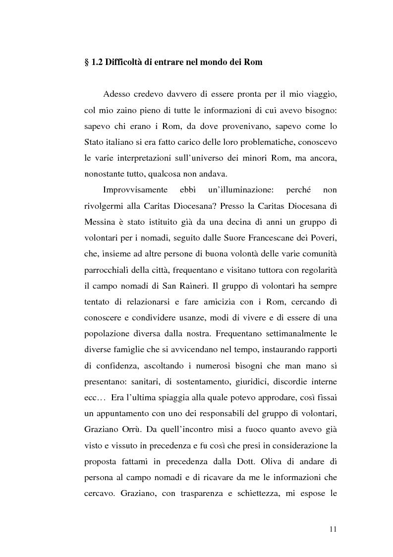 Anteprima della tesi: La scoperta della cultura Rom come mezzo per un'integrazione possibile: una ricerca sui minori Rom di Messina, Pagina 10