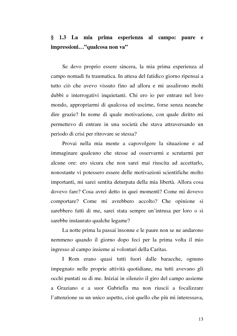 Anteprima della tesi: La scoperta della cultura Rom come mezzo per un'integrazione possibile: una ricerca sui minori Rom di Messina, Pagina 12