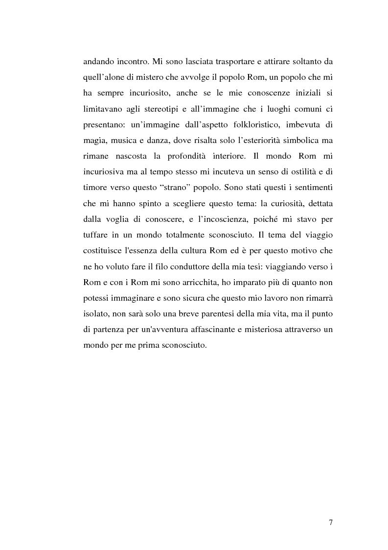 Anteprima della tesi: La scoperta della cultura Rom come mezzo per un'integrazione possibile: una ricerca sui minori Rom di Messina, Pagina 6