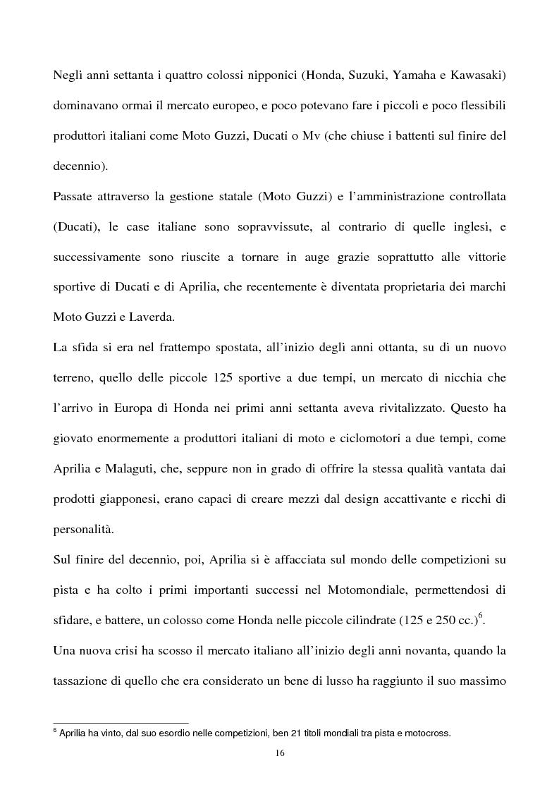 Anteprima della tesi: L'industria della motocicletta: il caso Honda Italia, Pagina 14