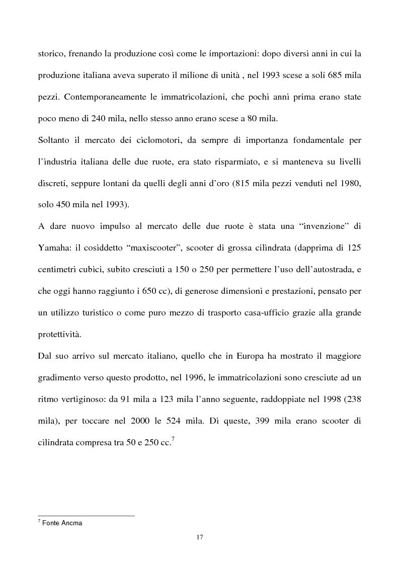 Anteprima della tesi: L'industria della motocicletta: il caso Honda Italia, Pagina 15