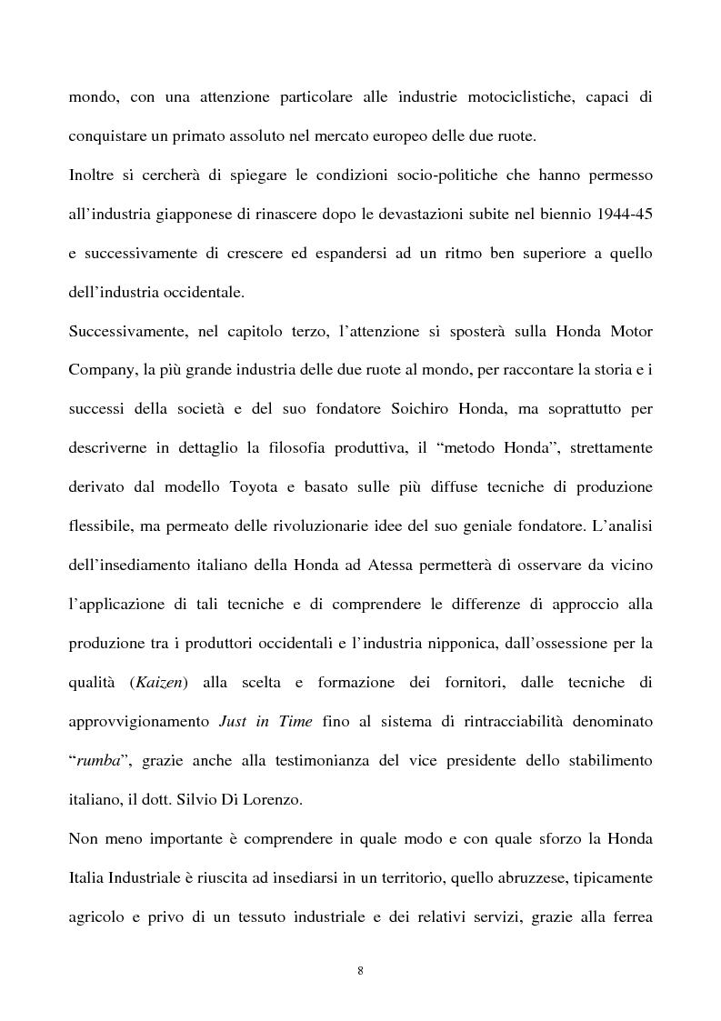 Anteprima della tesi: L'industria della motocicletta: il caso Honda Italia, Pagina 6