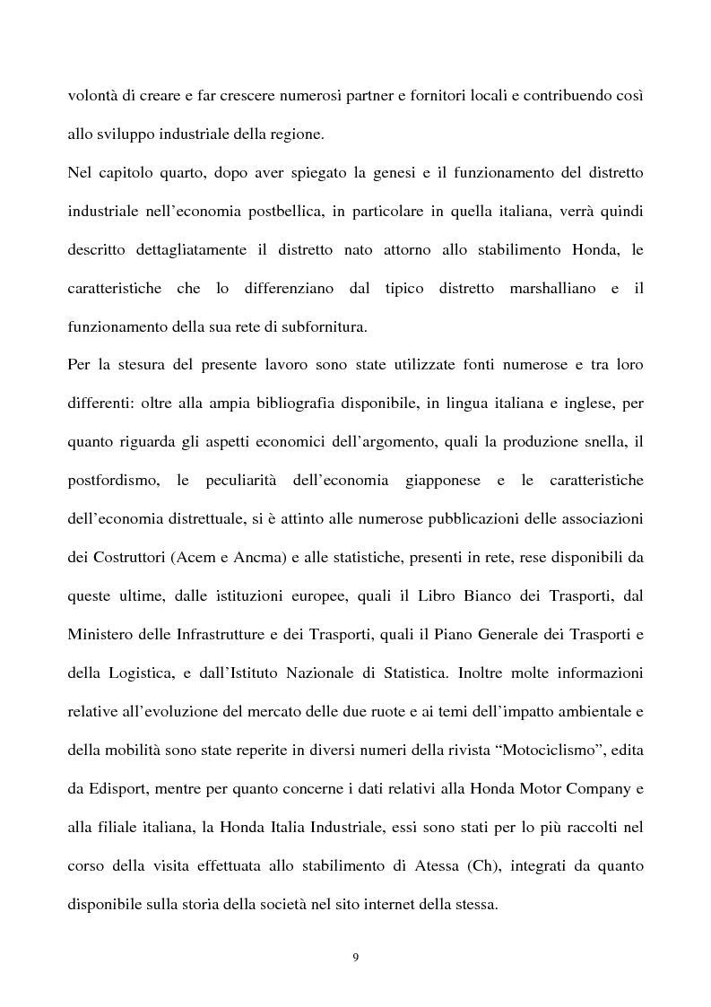 Anteprima della tesi: L'industria della motocicletta: il caso Honda Italia, Pagina 7