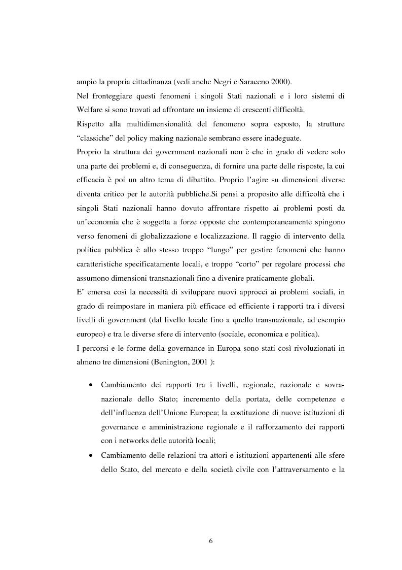 Anteprima della tesi: Le teorie dichiarate e le pratiche delle partnership locali. Il caso S.O.N.A.R., Pagina 5