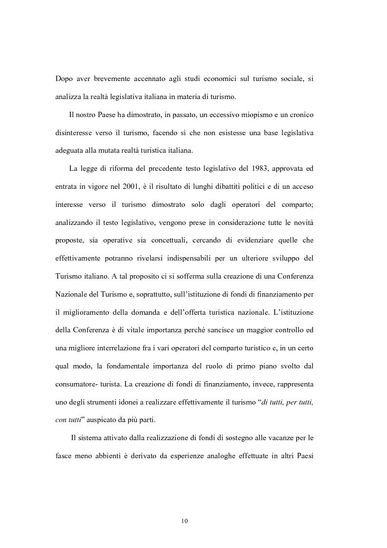Anteprima della tesi: Le tipologie turistiche negli anni 2000: turismo sostenibile e turismo sociale, Pagina 4
