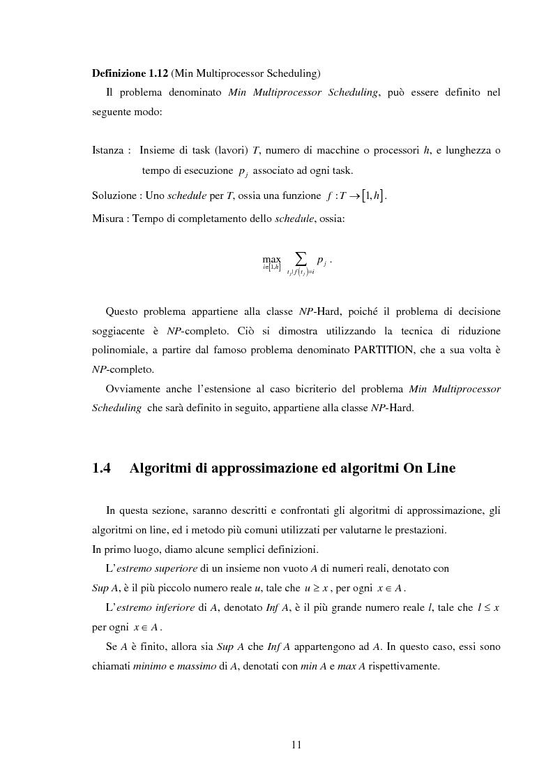 Anteprima della tesi: Analisi e sperimentazione di algoritmi di scheduling bicriterio, Pagina 11