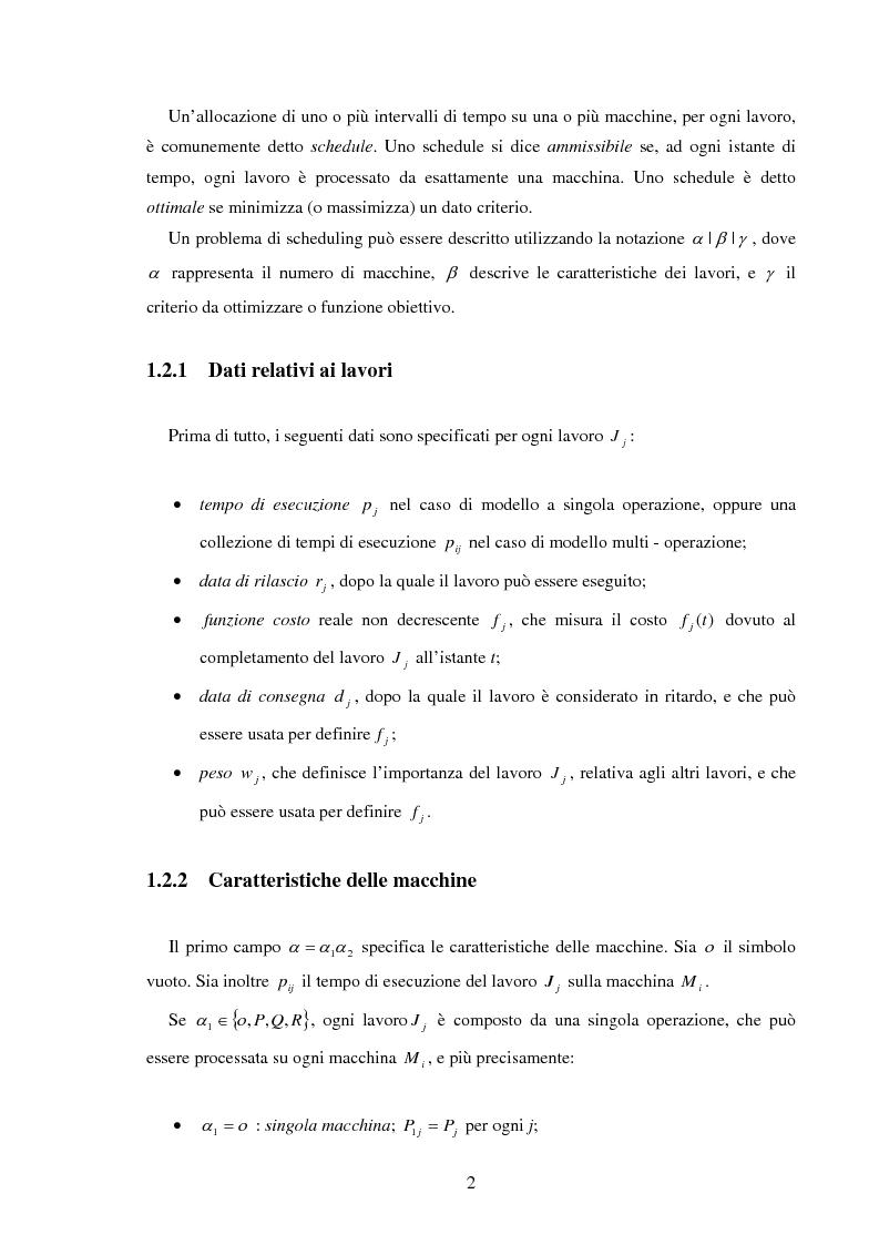 Anteprima della tesi: Analisi e sperimentazione di algoritmi di scheduling bicriterio, Pagina 2