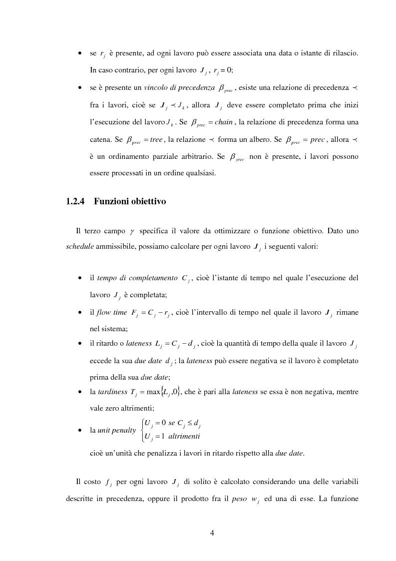 Anteprima della tesi: Analisi e sperimentazione di algoritmi di scheduling bicriterio, Pagina 4