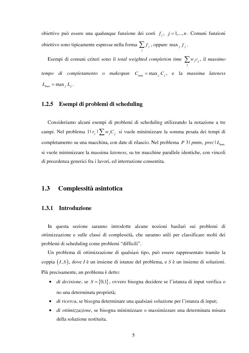 Anteprima della tesi: Analisi e sperimentazione di algoritmi di scheduling bicriterio, Pagina 5