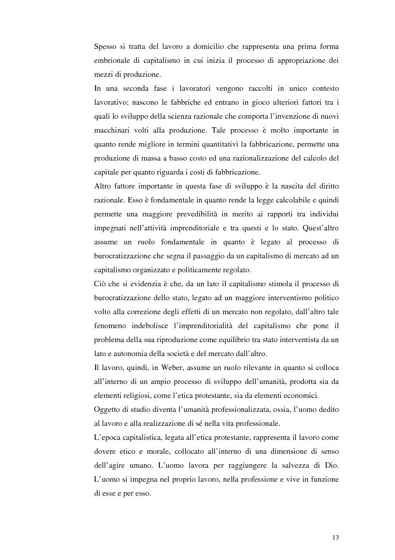 Anteprima della tesi: Il lavoro tra economia e società. Le trasformazioni del lavoro e le nuove forme della parasubordinazione. Una ricerca empirica in Emilia Romagna, Pagina 11
