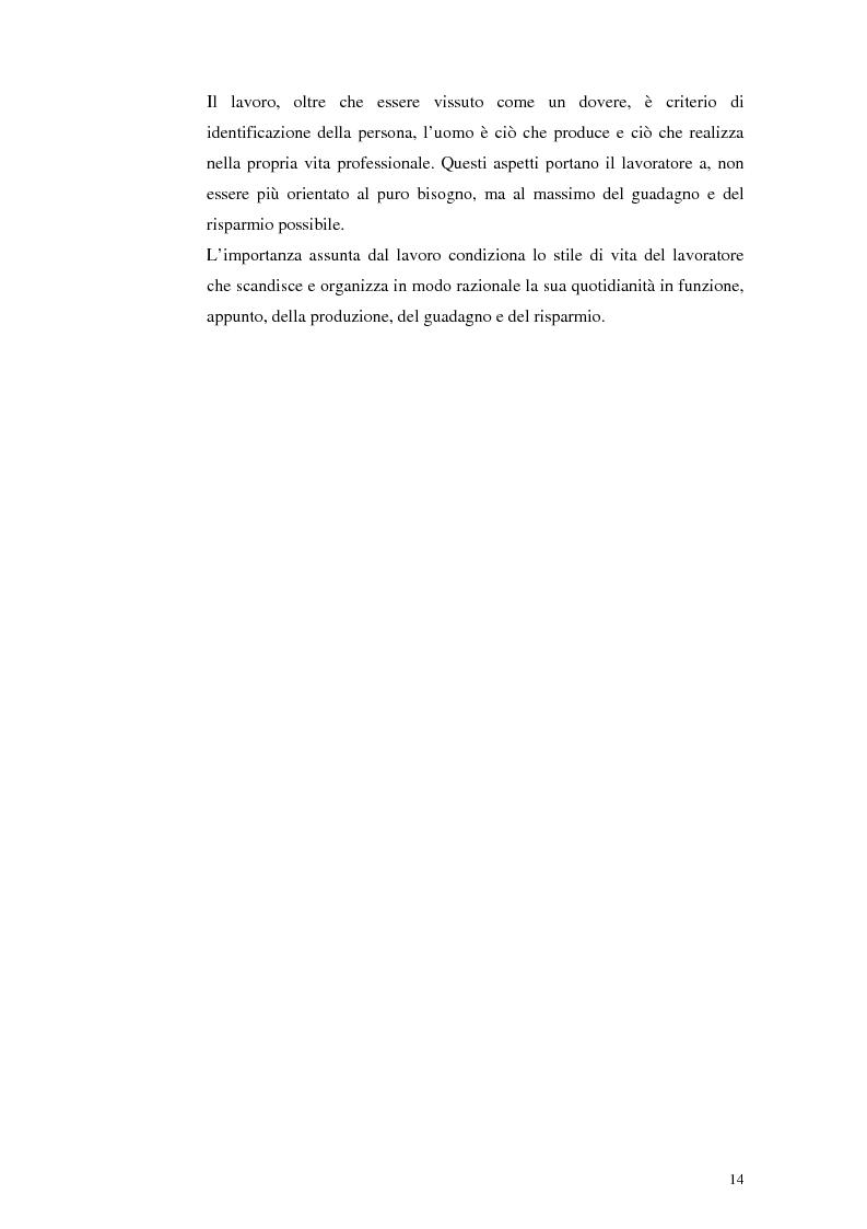Anteprima della tesi: Il lavoro tra economia e società. Le trasformazioni del lavoro e le nuove forme della parasubordinazione. Una ricerca empirica in Emilia Romagna, Pagina 12