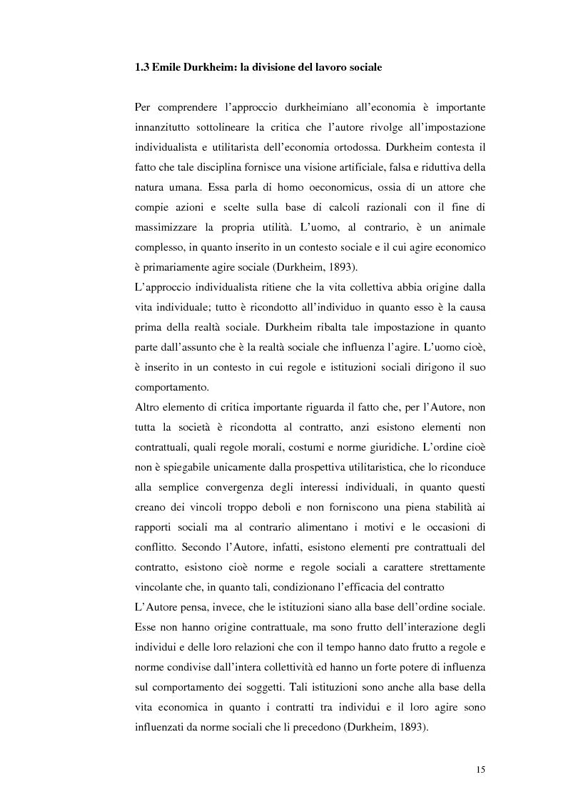 Anteprima della tesi: Il lavoro tra economia e società. Le trasformazioni del lavoro e le nuove forme della parasubordinazione. Una ricerca empirica in Emilia Romagna, Pagina 13