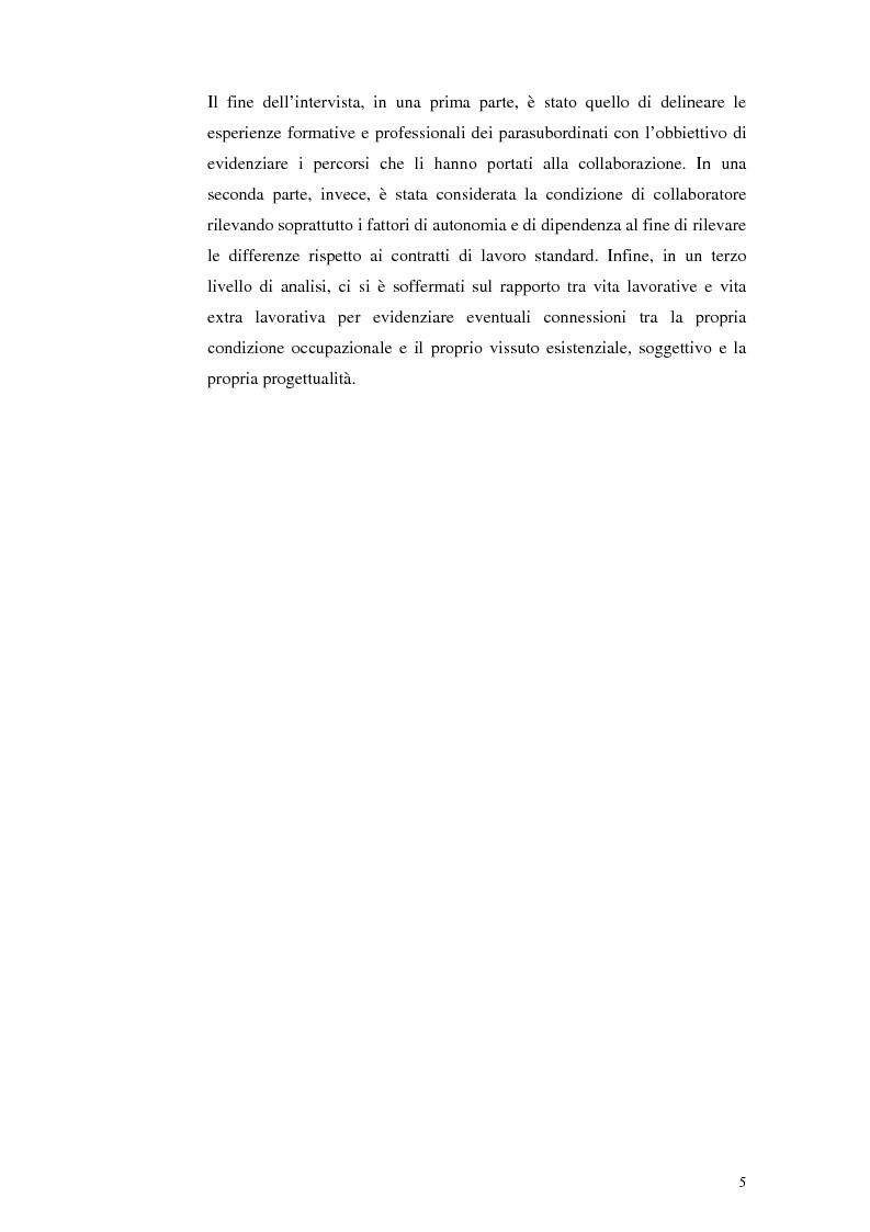 Anteprima della tesi: Il lavoro tra economia e società. Le trasformazioni del lavoro e le nuove forme della parasubordinazione. Una ricerca empirica in Emilia Romagna, Pagina 3