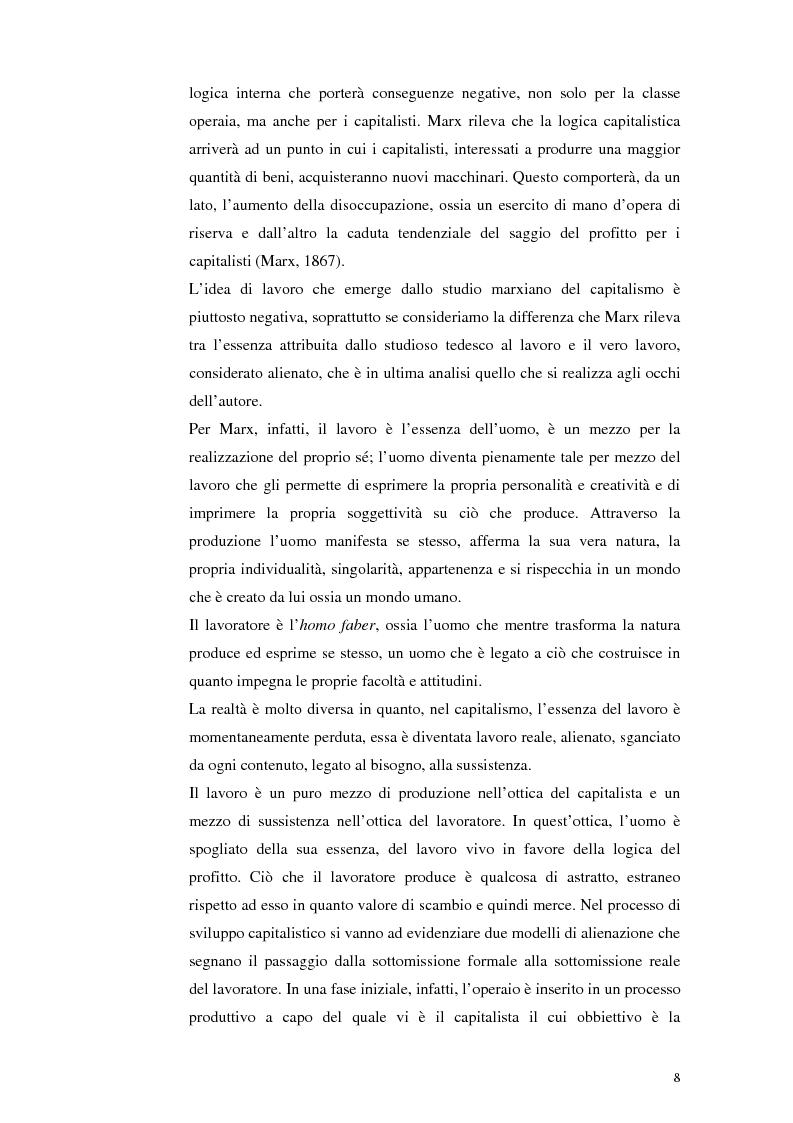 Anteprima della tesi: Il lavoro tra economia e società. Le trasformazioni del lavoro e le nuove forme della parasubordinazione. Una ricerca empirica in Emilia Romagna, Pagina 6