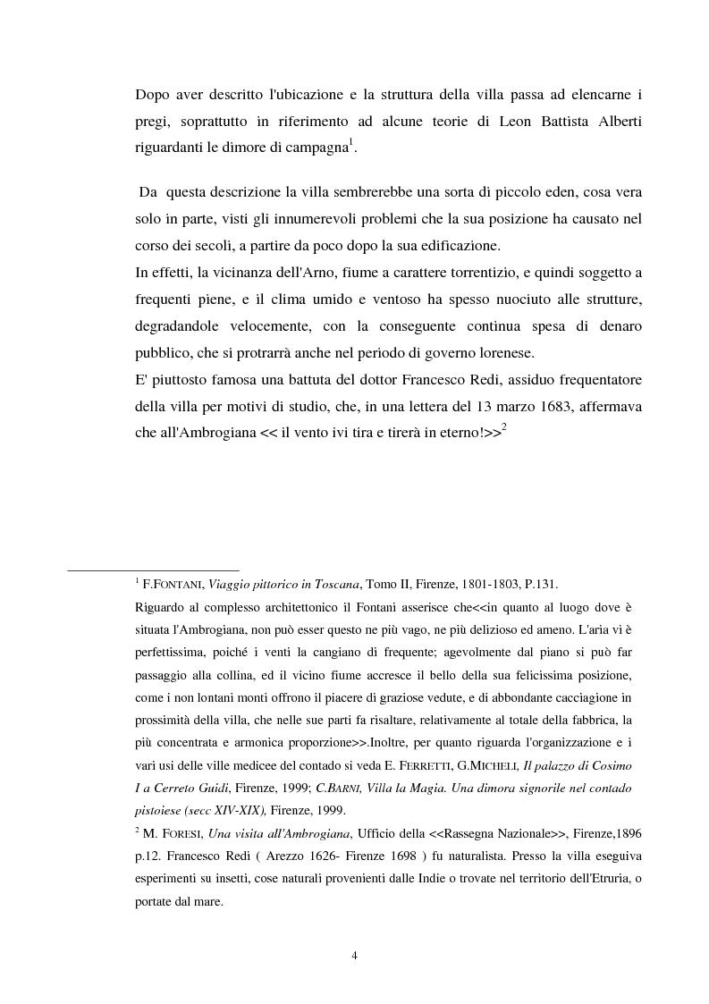 Anteprima della tesi: La villa dell'Ambrogiana e i Lorena, Pagina 2