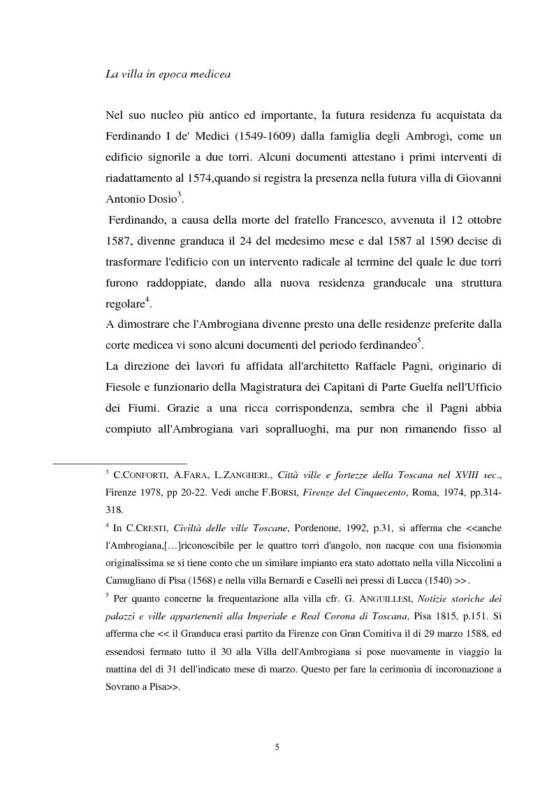 Anteprima della tesi: La villa dell'Ambrogiana e i Lorena, Pagina 3