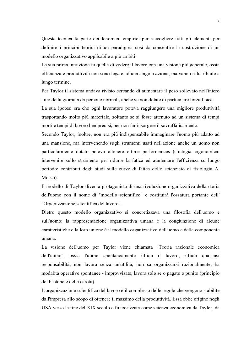 Anteprima della tesi: La gestione efficace della ricchezza ''risorse umane'' come fattore di sviluppo organizzativo e vantaggio competitivo: il contributo dell'intervento formativo, Pagina 11