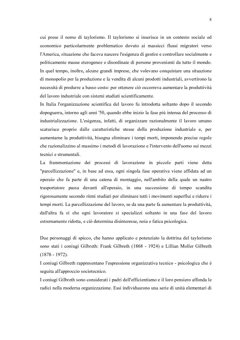 Anteprima della tesi: La gestione efficace della ricchezza ''risorse umane'' come fattore di sviluppo organizzativo e vantaggio competitivo: il contributo dell'intervento formativo, Pagina 12